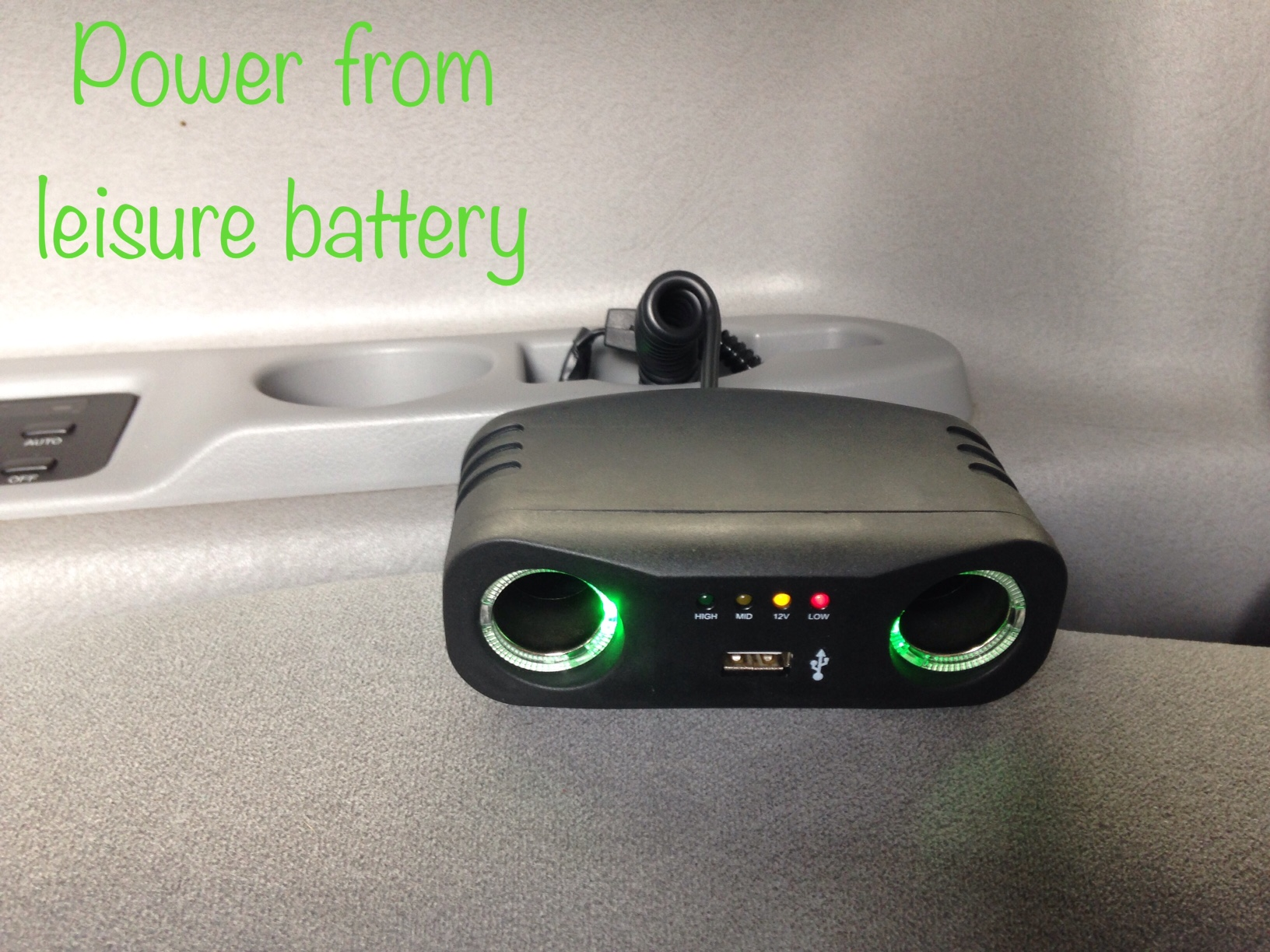 power from battery